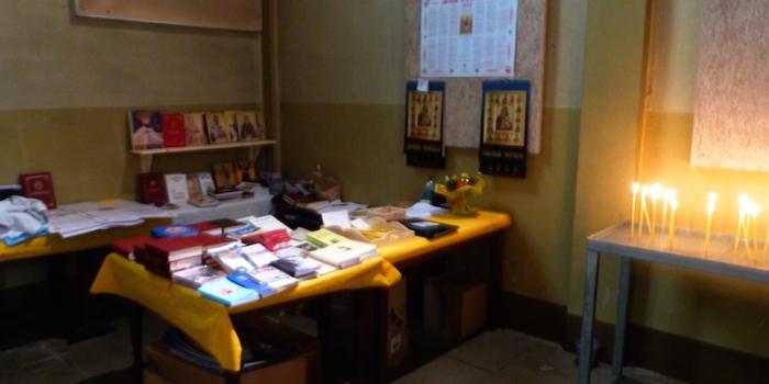 Deschidere pangar Biserica si lista de carti disponibile